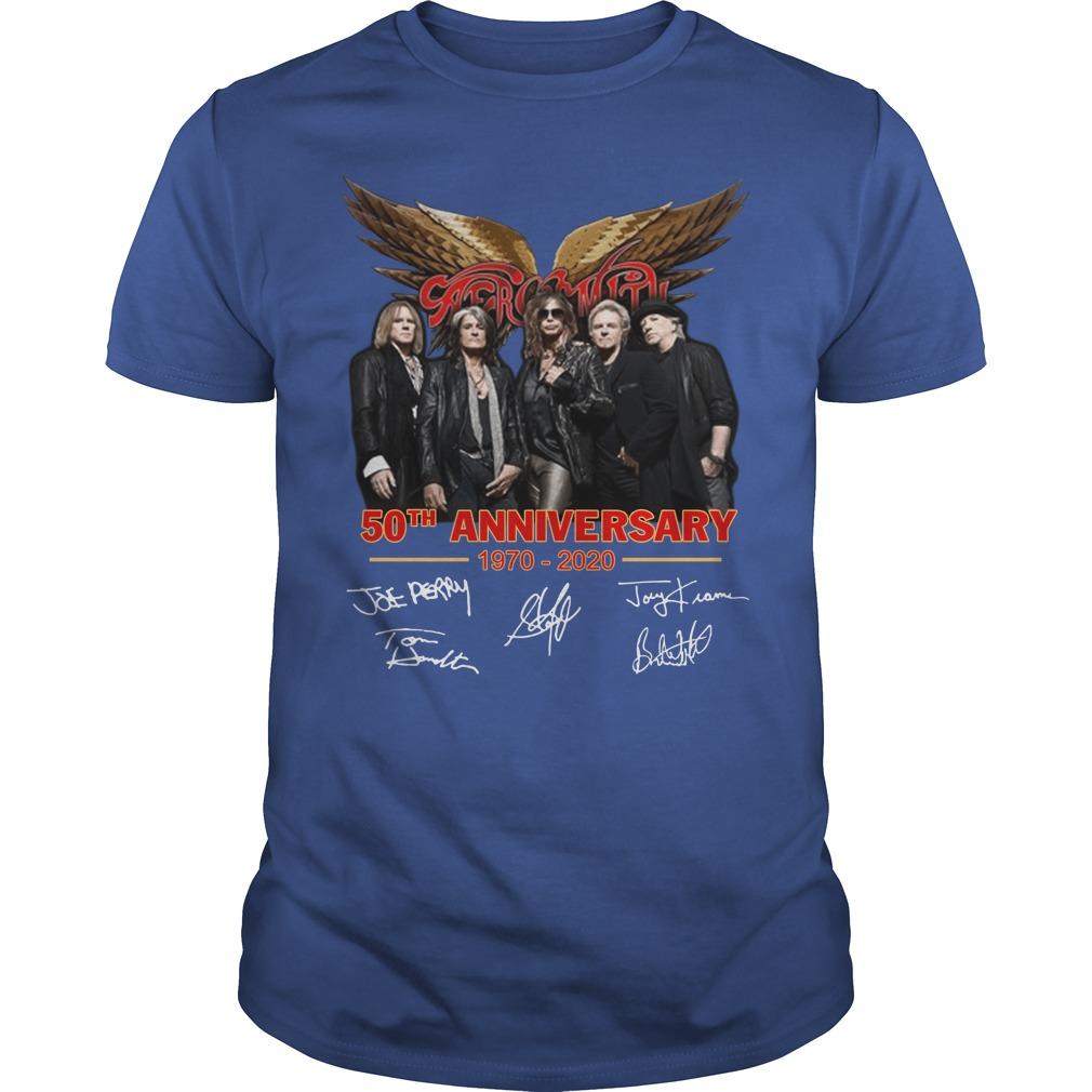 Aerosmith Us Tour 2020 Aerosmith 50th Anniversary 1970 2020 Signature Shirt, Hoodie & Sweater