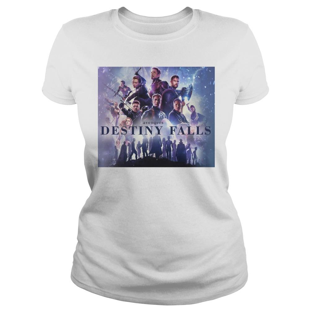 Avengers Endgame Destiny Falls Ladies Shirt