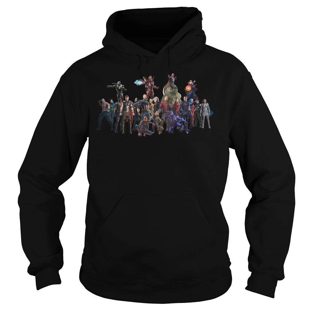 Avengers Endgame Superheroes Group Hoodie