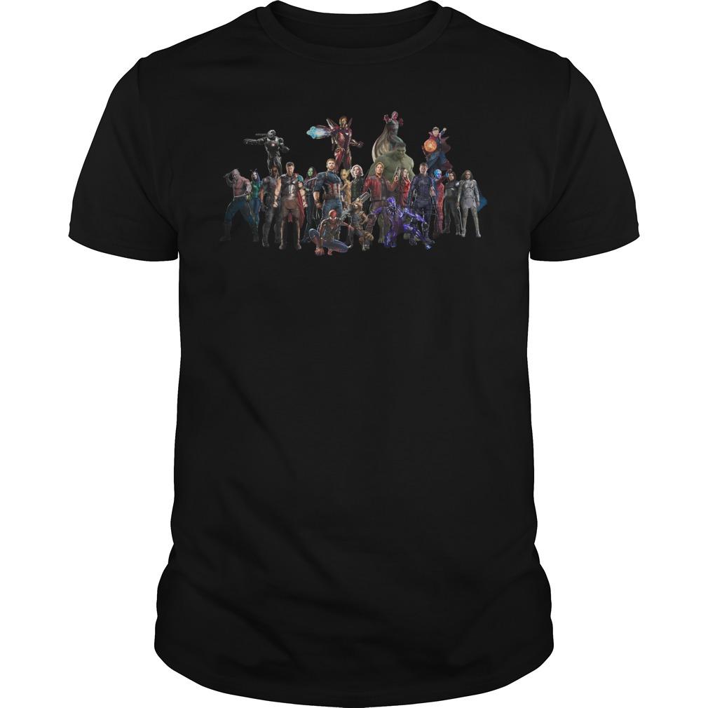 Avengers Endgame Superheroes Group Shirt