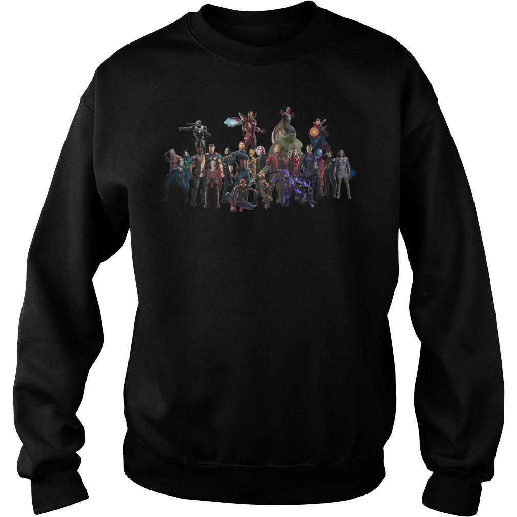 Avengers Endgame Superheroes Group Sweatshirt