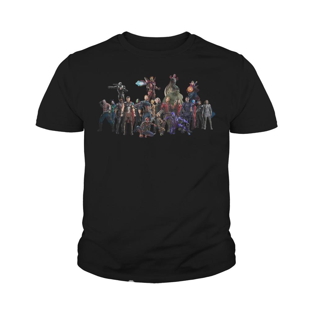 Avengers Endgame Superheroes Group Youth Shirt