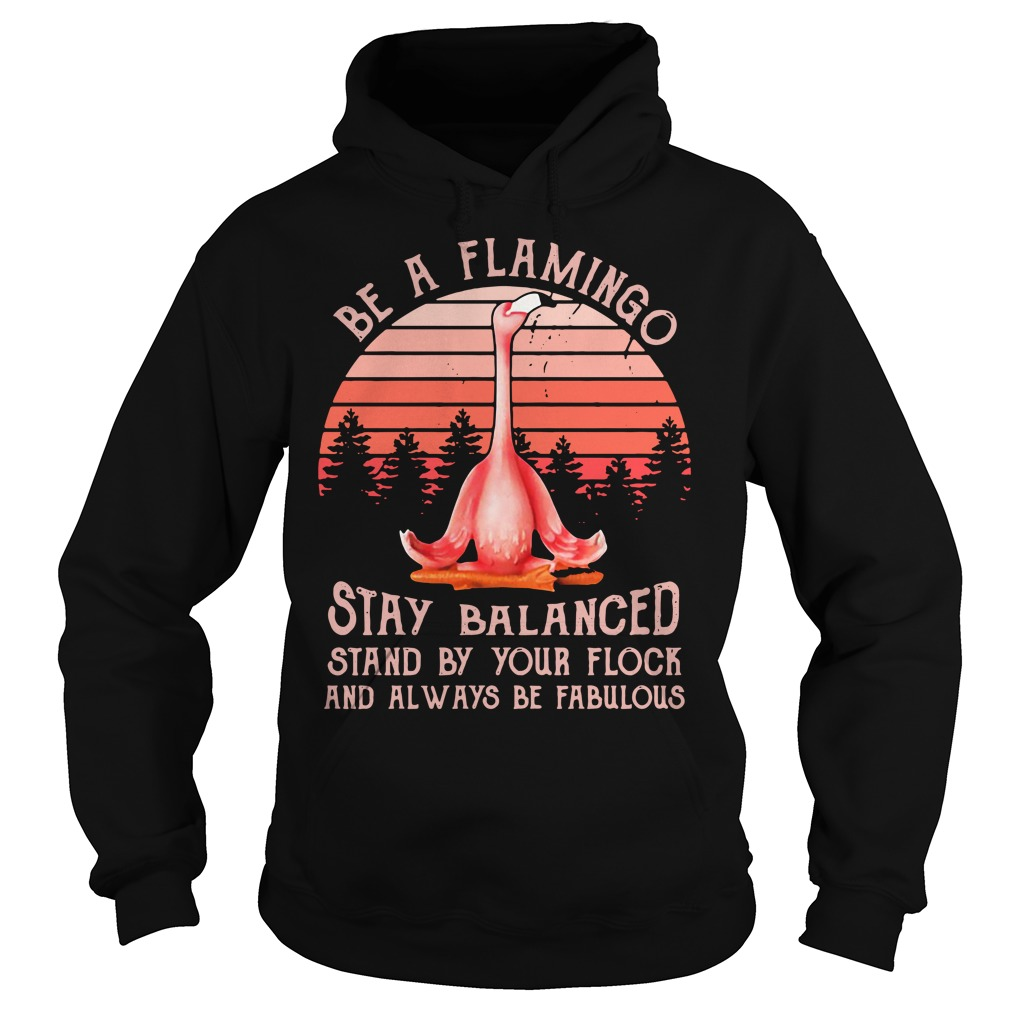 Flamingo Yoga Stay Balanced Stand By Your Flock Always Be Fabulous Hoodie