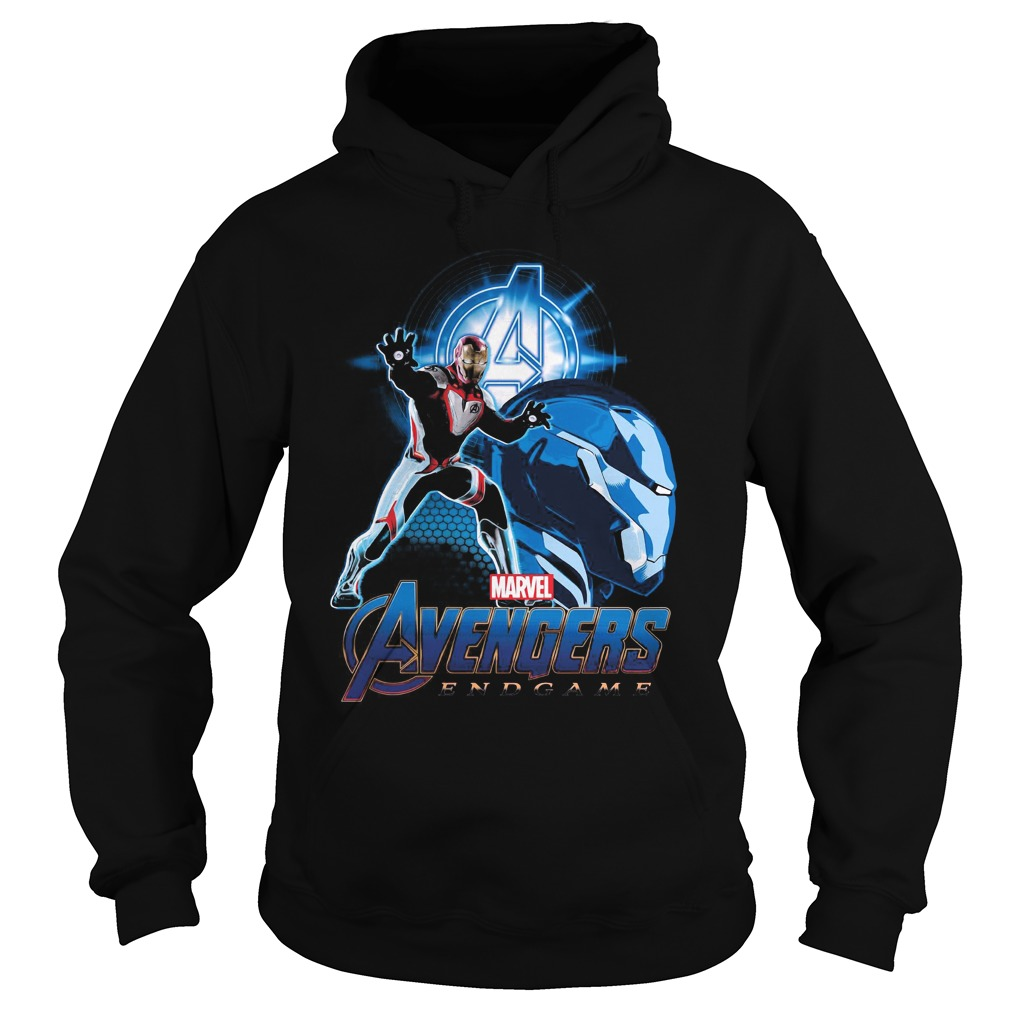 Marvel Men's Avengers Endgame Iron Man Profile Hoodie