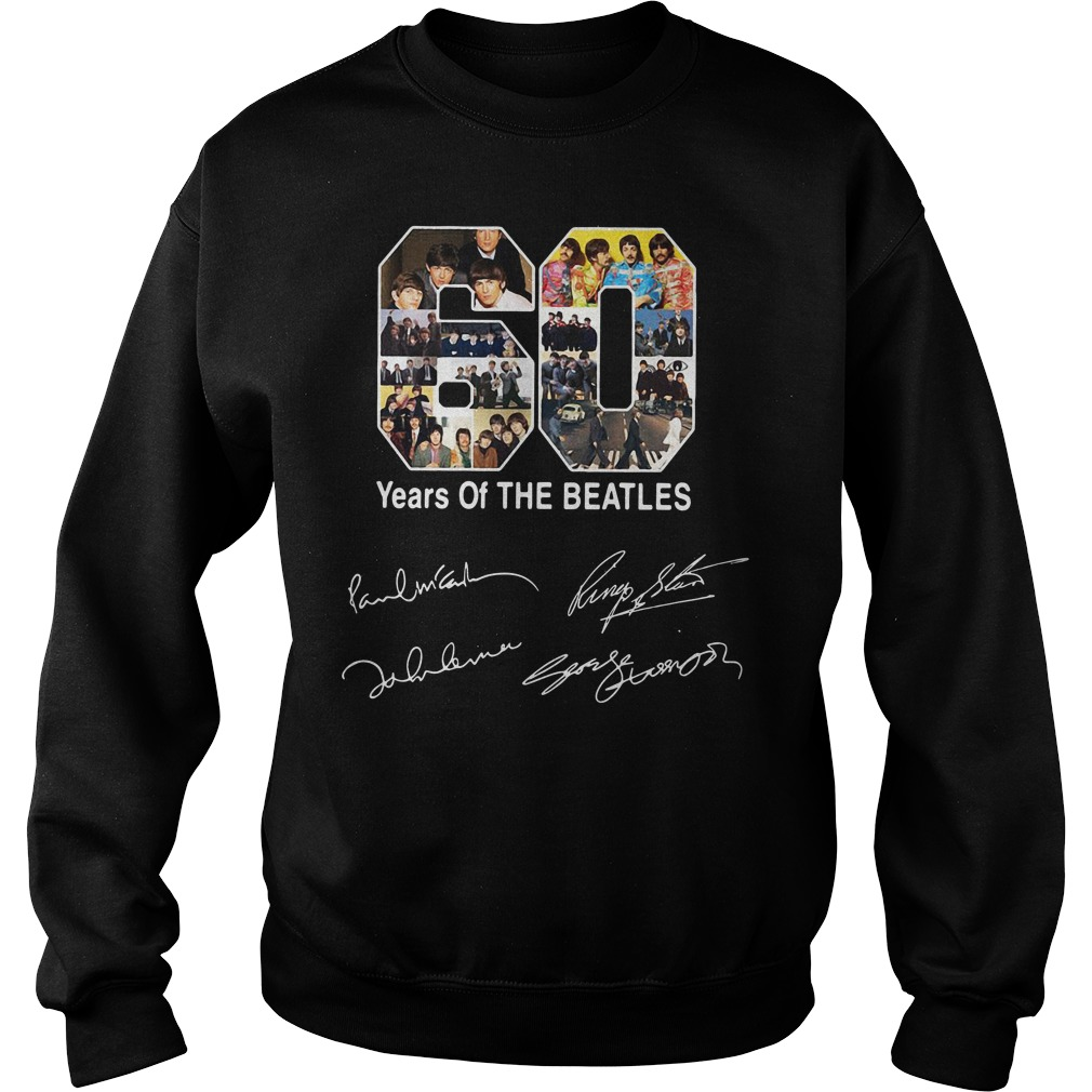 Official 60 Year Of The Beatles Sweatshirt