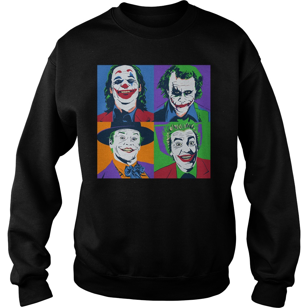 Official Joker Pop Art Joker Pop Art Sweatshirt