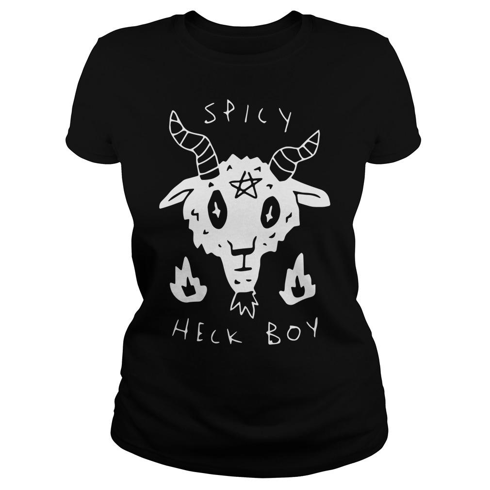 Official Satan Spicy Heck Boy Ladies Shirt