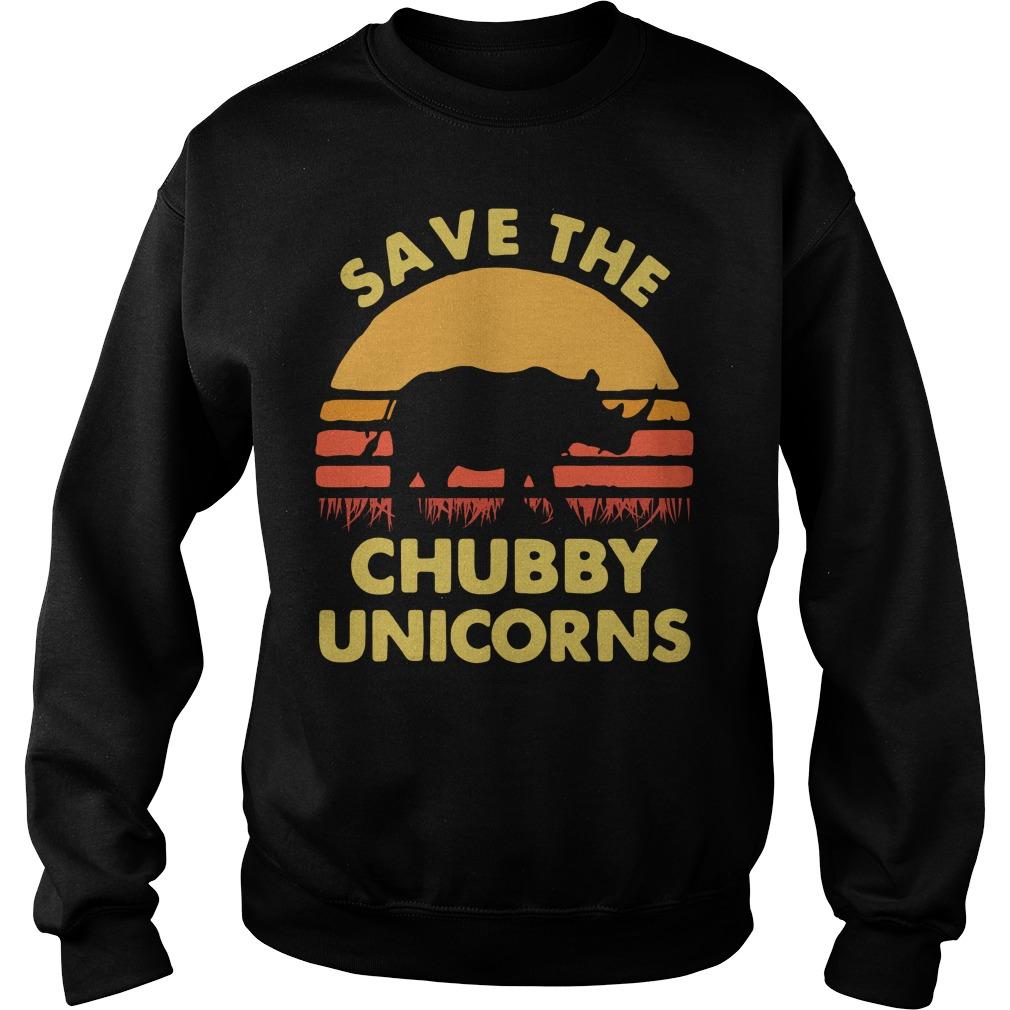 Official Save The Chubby Unicorns Sweatshirt