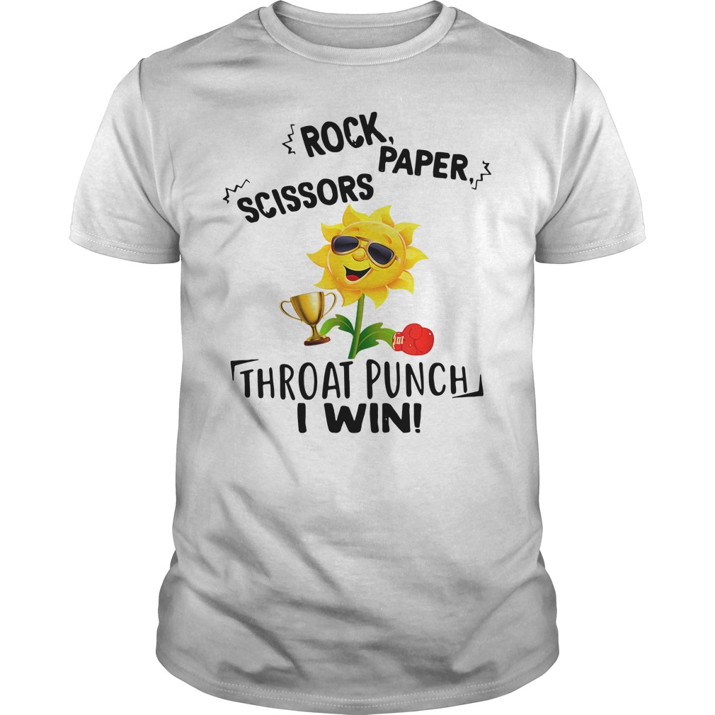 Rock Paper Scissors Throat Punch I Win Shirt