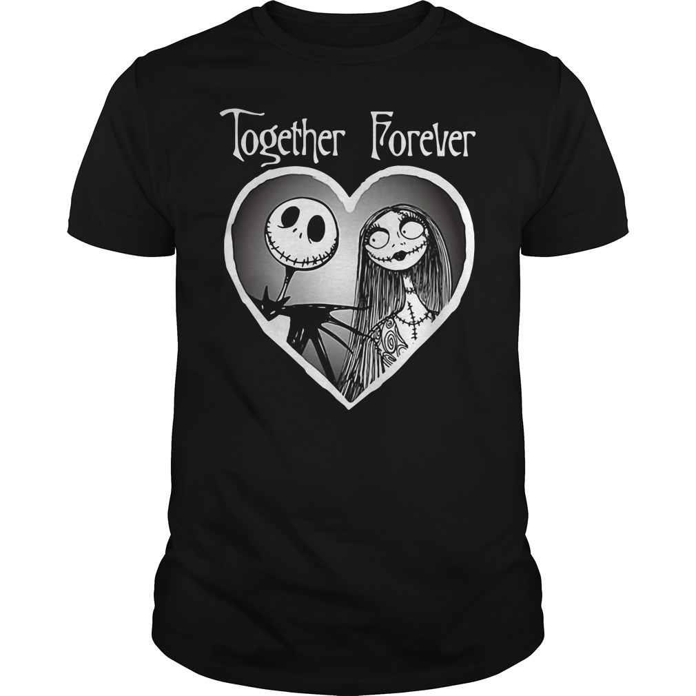 Sally And Jack Skellington The Disney Nightmare Before Christmas Together Forever Shirt