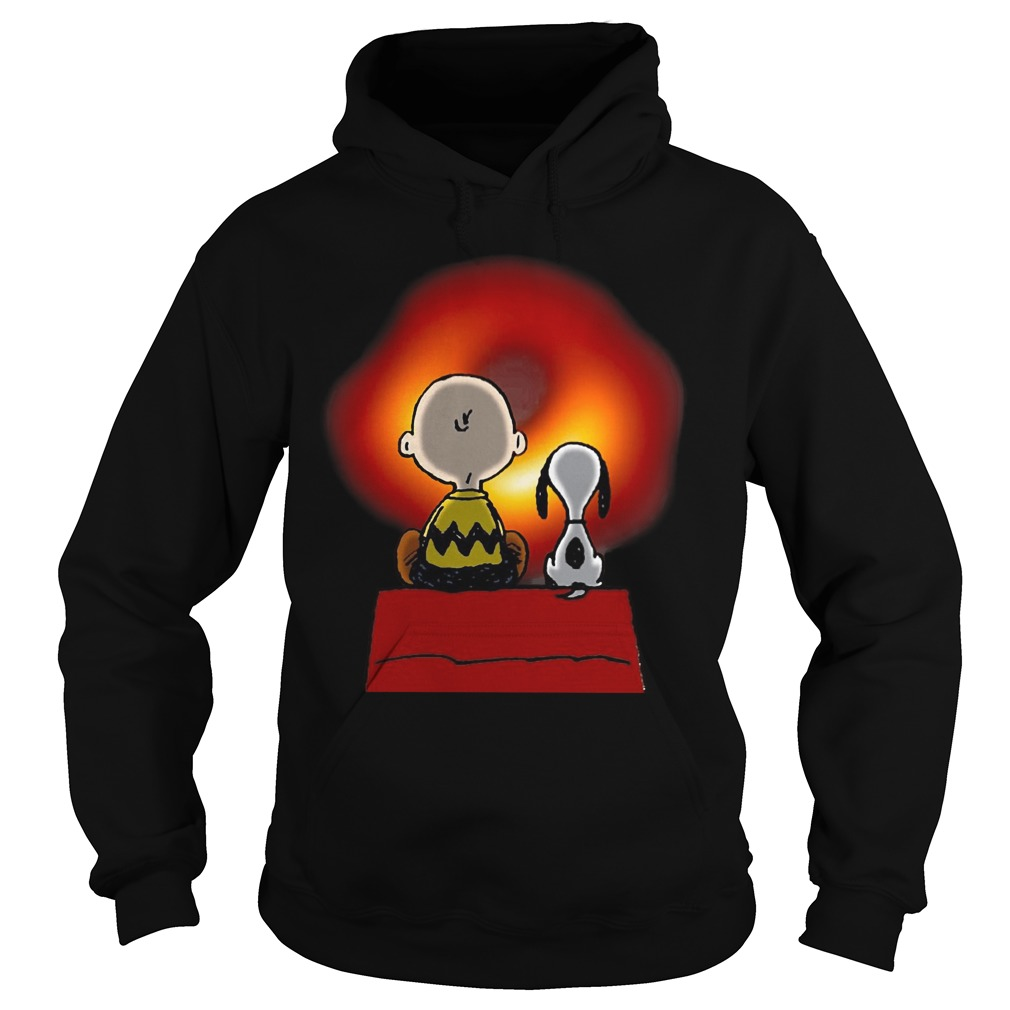 Snoopy And Charlie Brown Cosmic Black Hole Hoodie