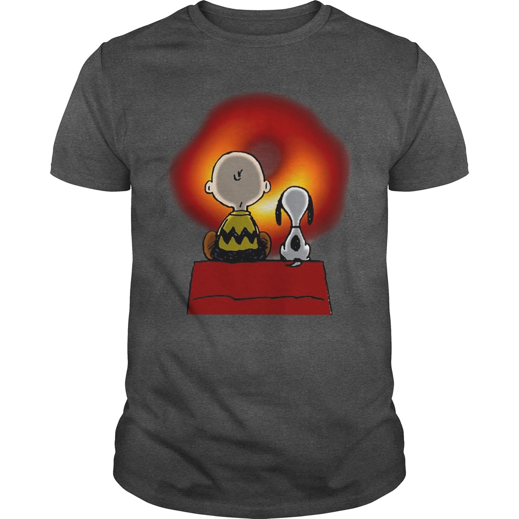 Snoopy And Charlie Brown Cosmic Black Hole Shirt
