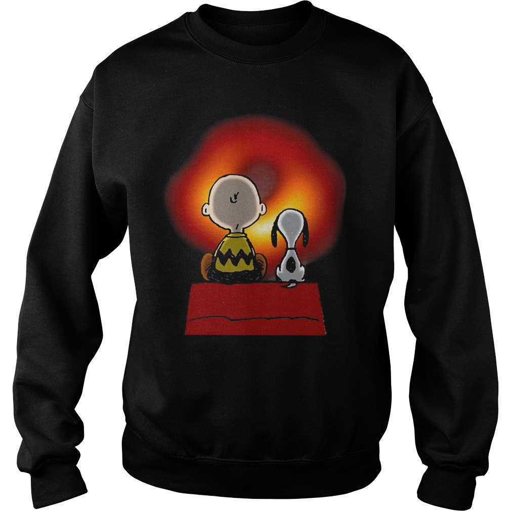 Snoopy And Charlie Brown Cosmic Black Hole Sweater