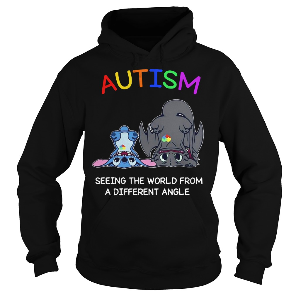 Toothless And Stitch Autism See The World From A Different Angle Hoodie