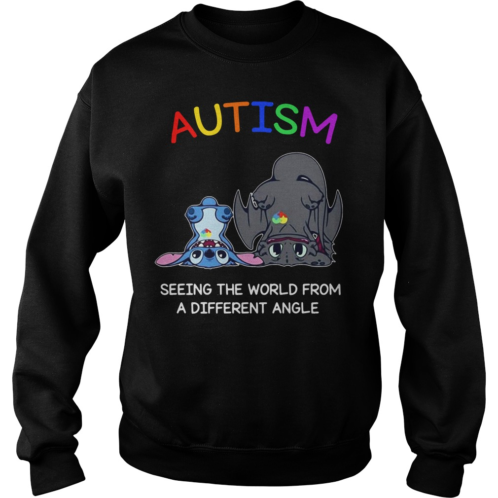 Toothless And Stitch Autism See The World From A Different Angle Sweater