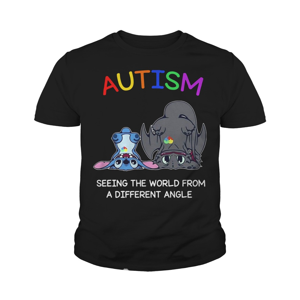 Toothless And Stitch Autism See The World From A Different Angle Youth Shirt
