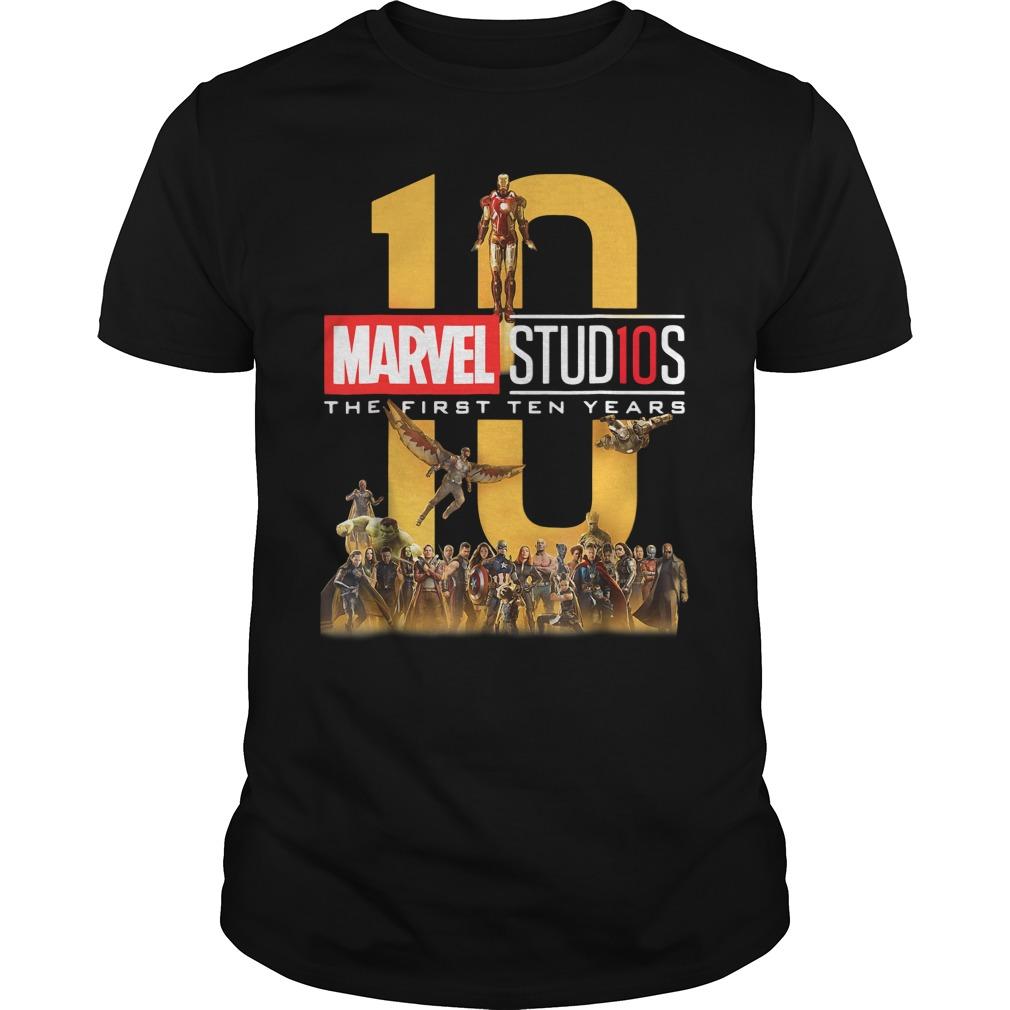 10 Marvel Studios The First Ten Years Shirt