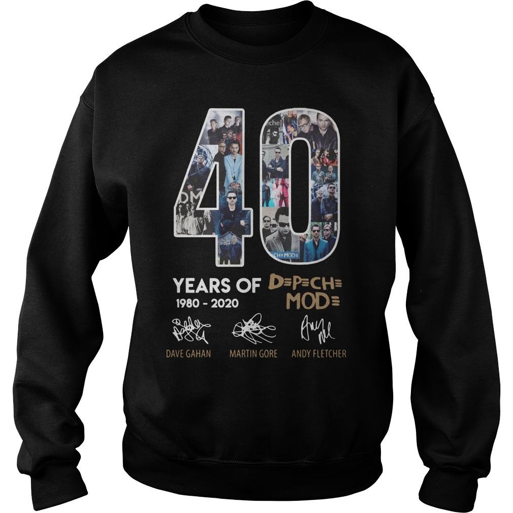40 Years Of Depeche Mode 1980 2020 Shirt sweater
