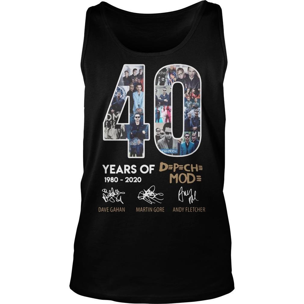 40 Years Of Depeche Mode 1980 2020 Shirt tank top