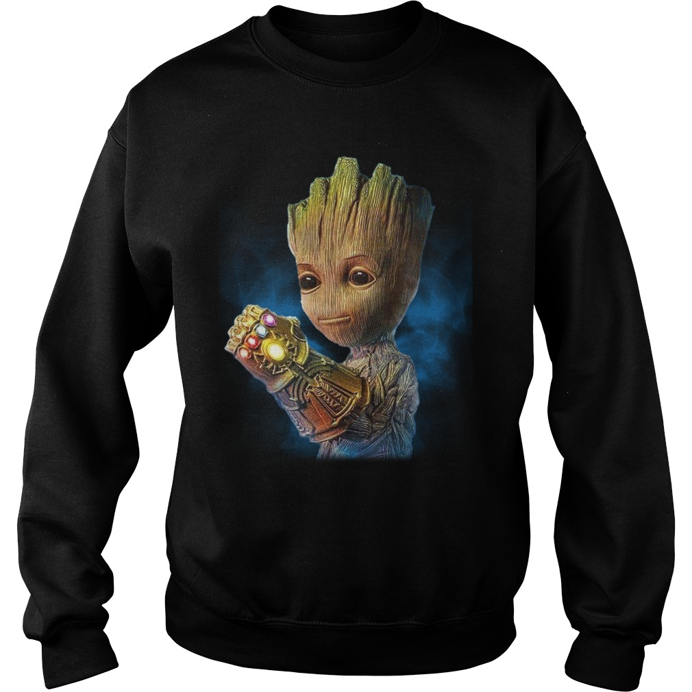 Baby Groot Wearing Infinity Gauntlet Shirt sweater