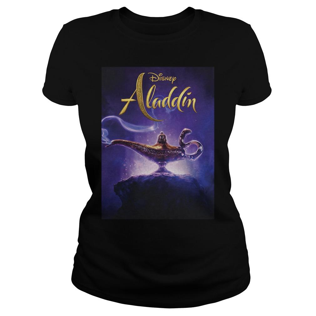 Disney Aladdin 2019 Aladdin Live Action Cover Shirt ladies tee