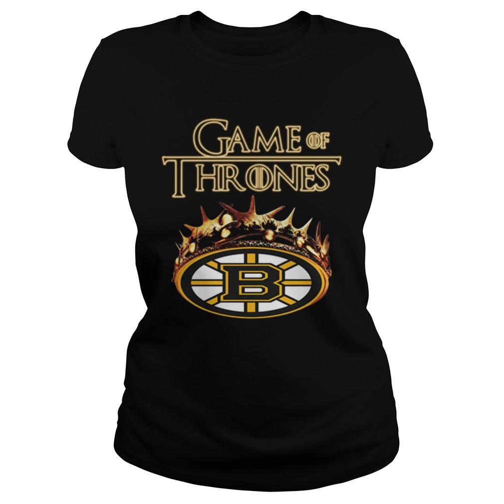 Game Of Thrones Crown Boston Bruins Shirt ladies tee