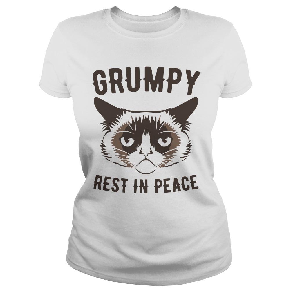 Grumpy Cat Rest In Peace Shirt ladies tee