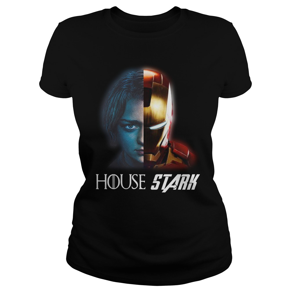 House Stark Arya And Iron Man Shirt ladies tee