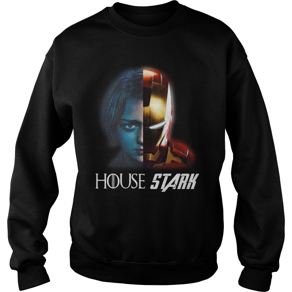 House Stark Arya And Iron Man Shirt sweater