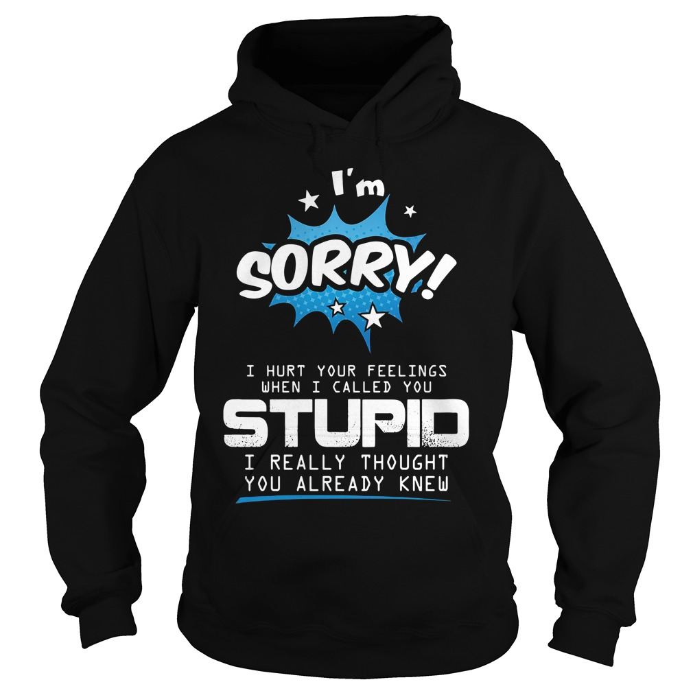 I'm Sorry I Hurt Your Feelings When I Called You Stupid Shirt hoodie