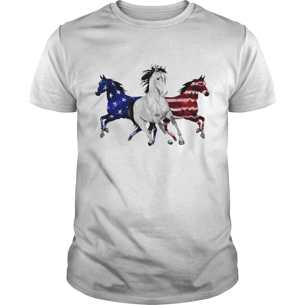 Independence Day 4th Of July Horse American Flag Shirt