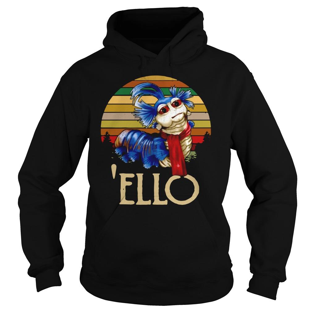 Labyrinth Worm Ello Hello Retro Shirt hoodie