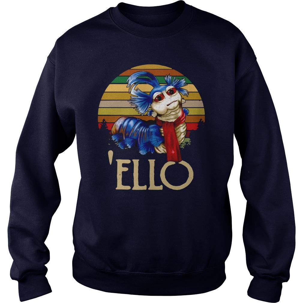 Labyrinth Worm Ello Hello Retro Shirt sweater