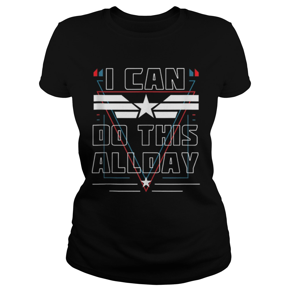 Nice I Can Do This All Day Captain America Shirt ladies tee