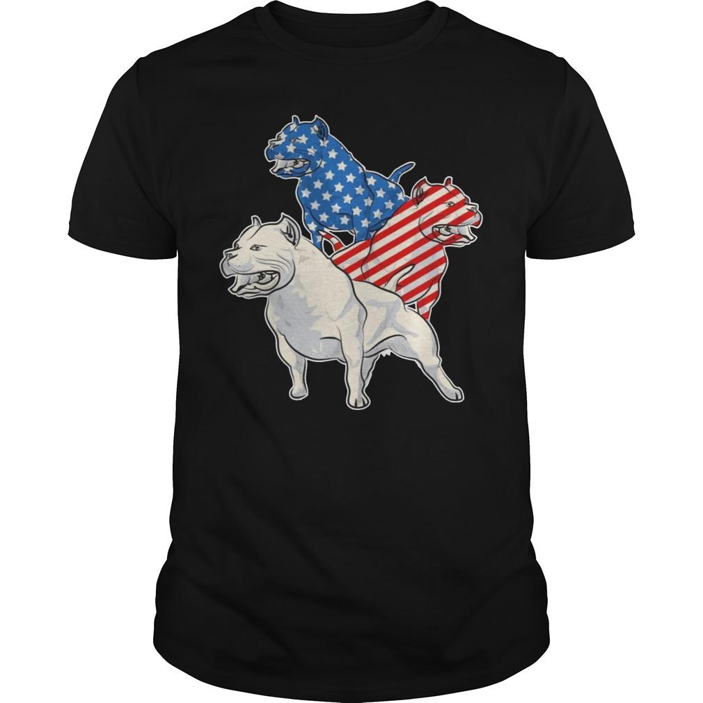 Pit Bull American Flag Shirt