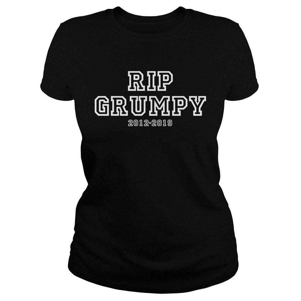 Rip Grumpy Cat 2012-2019 Shirt ladies tee