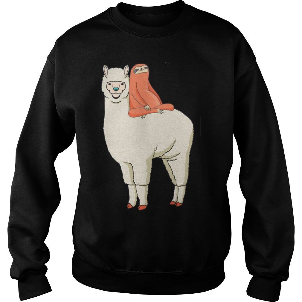 Sloth Riding Llama Shirt sweater
