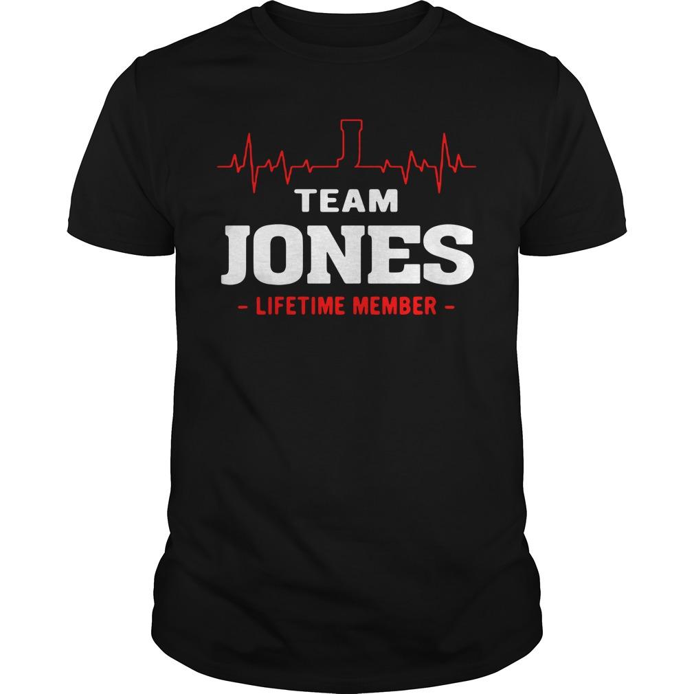 Team Jones Lifetime Member Shirt