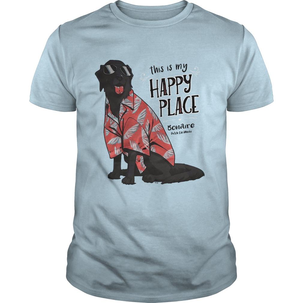 This Is My Happy Place Bonaire Dutch Caribbean Shirt