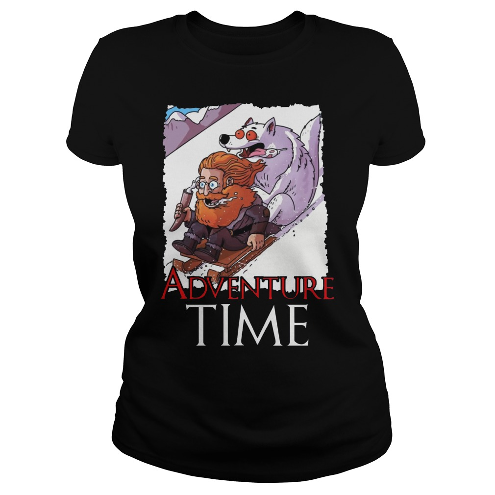 Tormund Giantsbane Snowboarding Adventure Time Game Of Thrones Shirt ladies tee