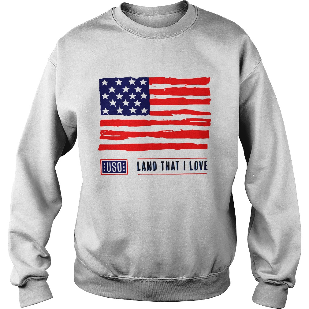 USO Land That I Love American Flag Shirt sweater