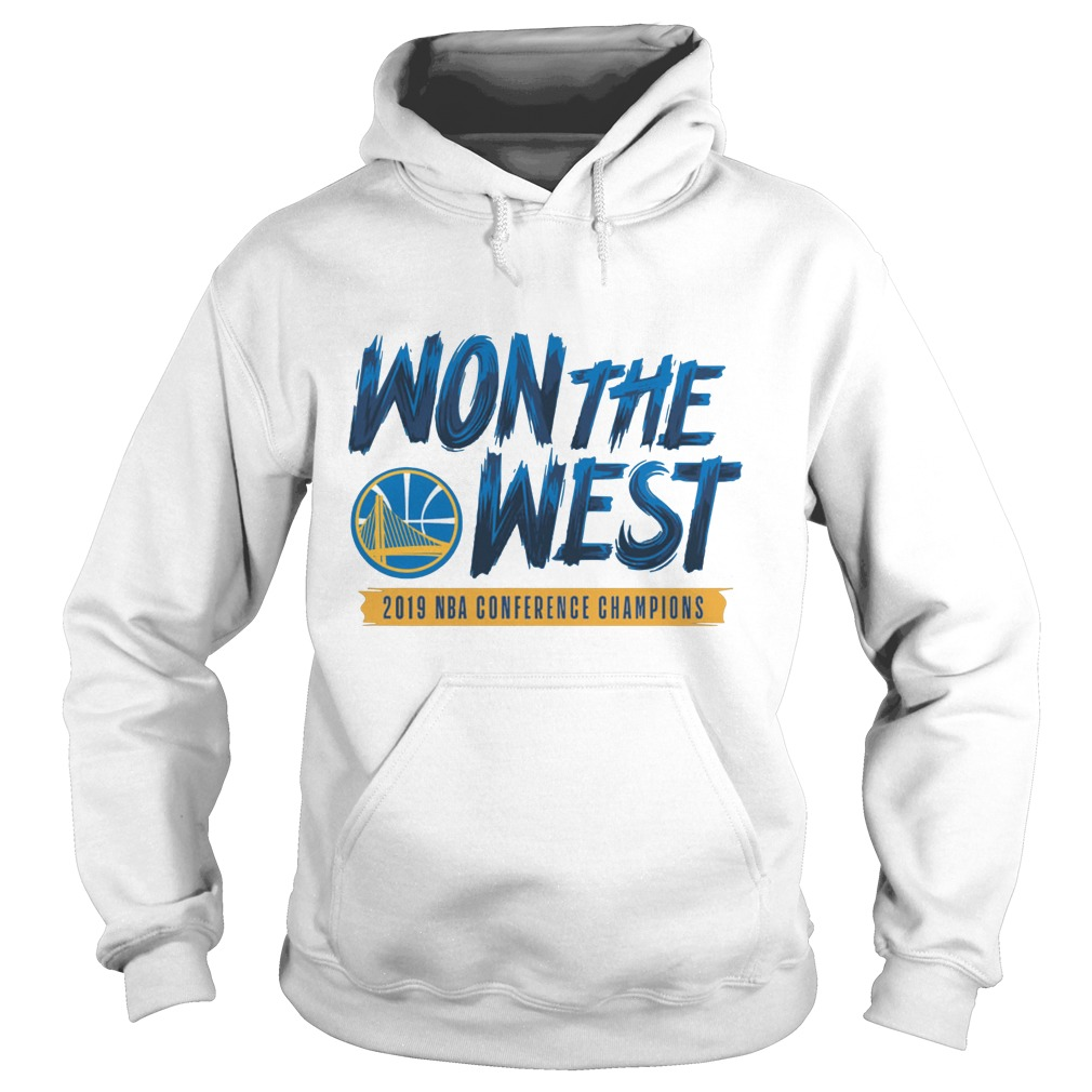 Warriors Won The West 2019 NBA Conference Champions Shirt hoodie