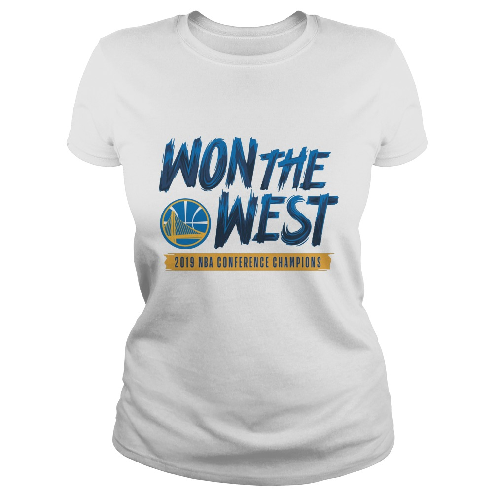 Warriors Won The West 2019 NBA Conference Champions Shirt ladies tee