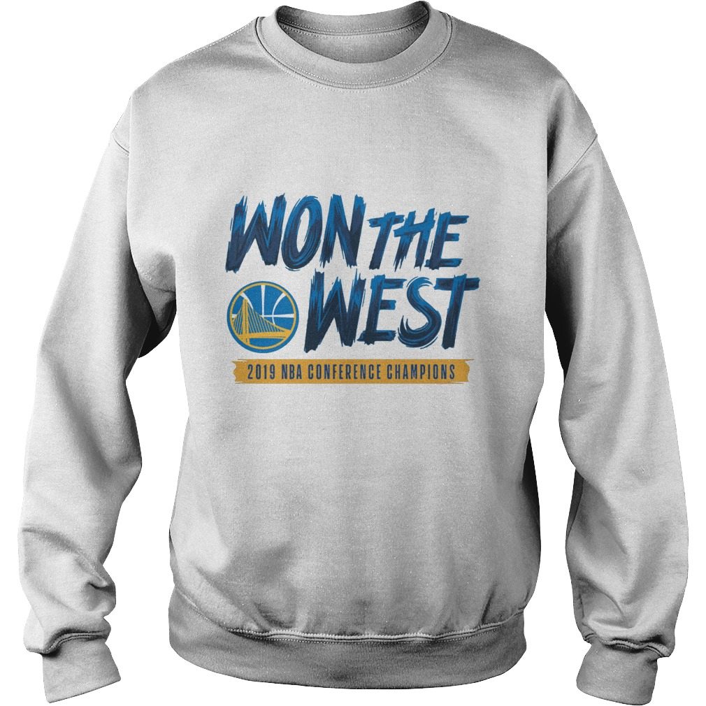Warriors Won The West 2019 NBA Conference Champions Shirt sweater