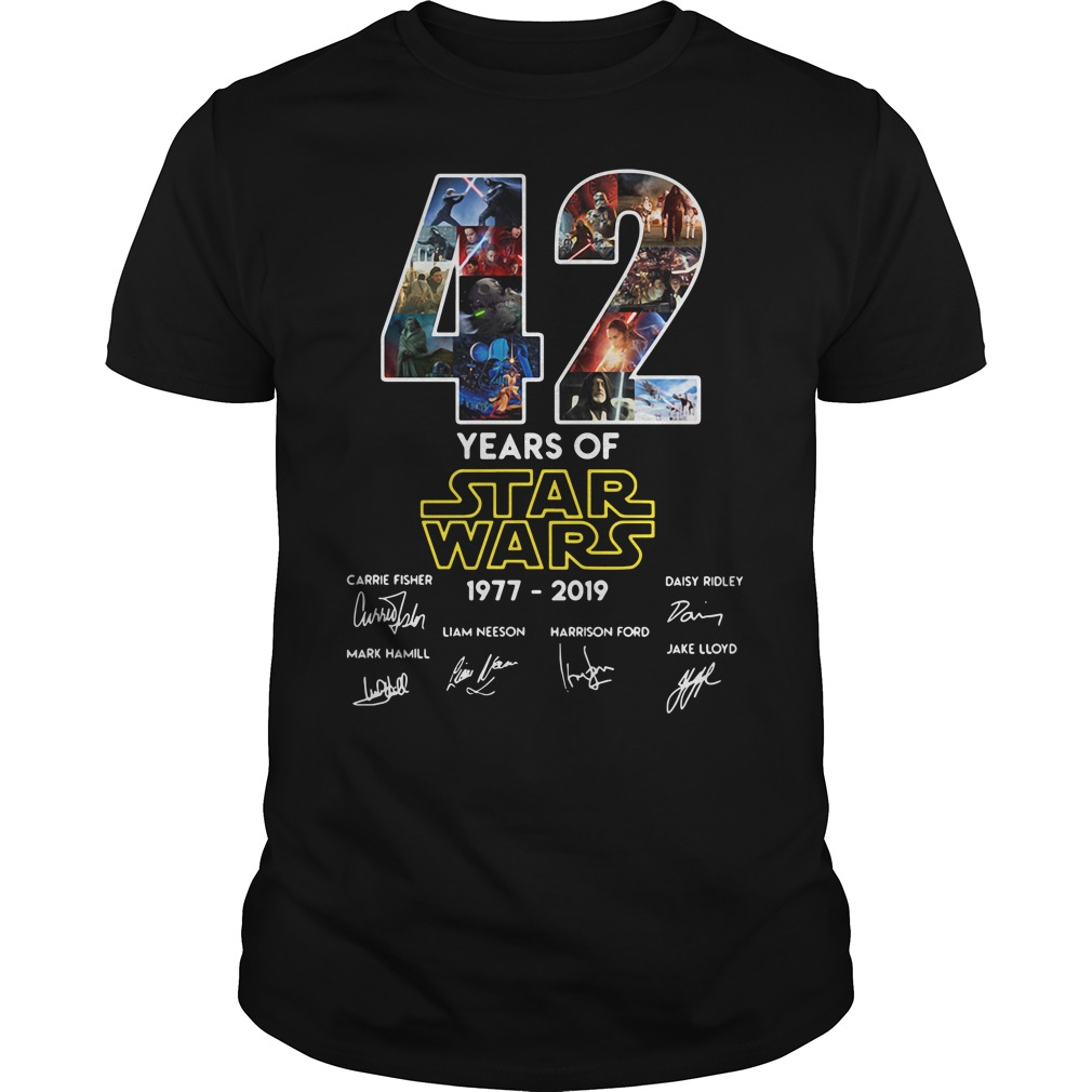 42 Years Of Star Wars 1977 2019 Signature Shirt
