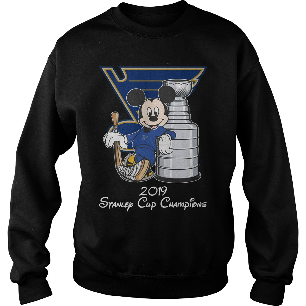 Blue Mickey St Louis Blues 2019 Stanley Cup Champions Shirt sweater