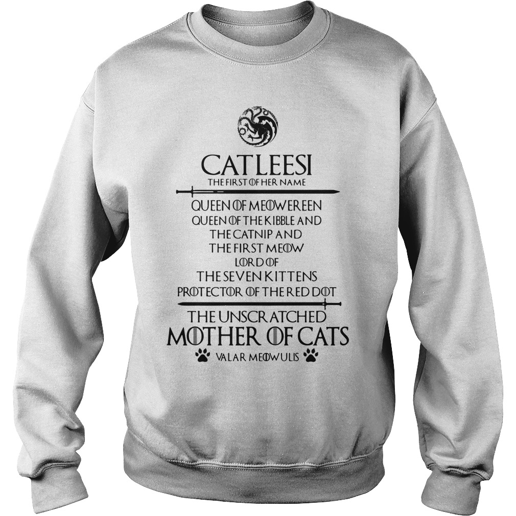 Catleesi The Unscr Atched Mother Of Cats Shirt sweater
