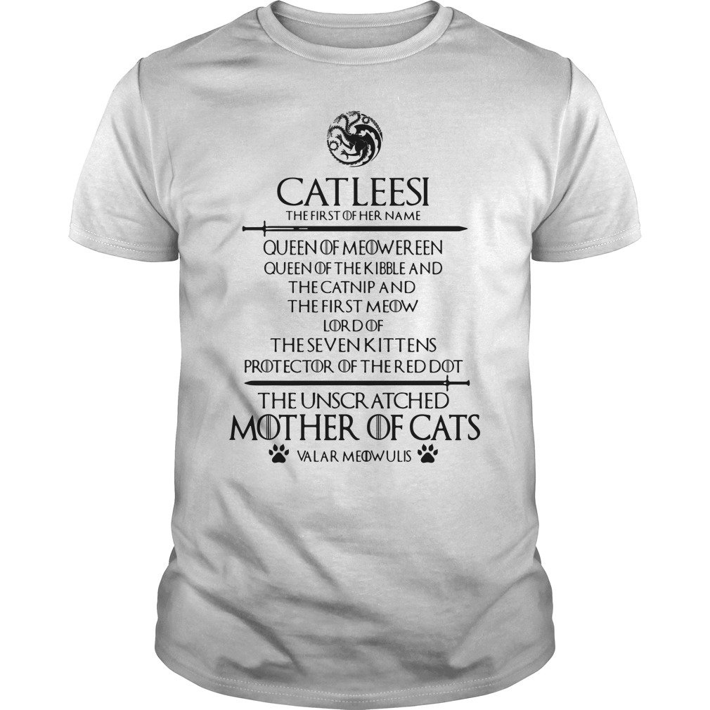 Catleesi The Unscr Atched Mother Of Cats Shirt