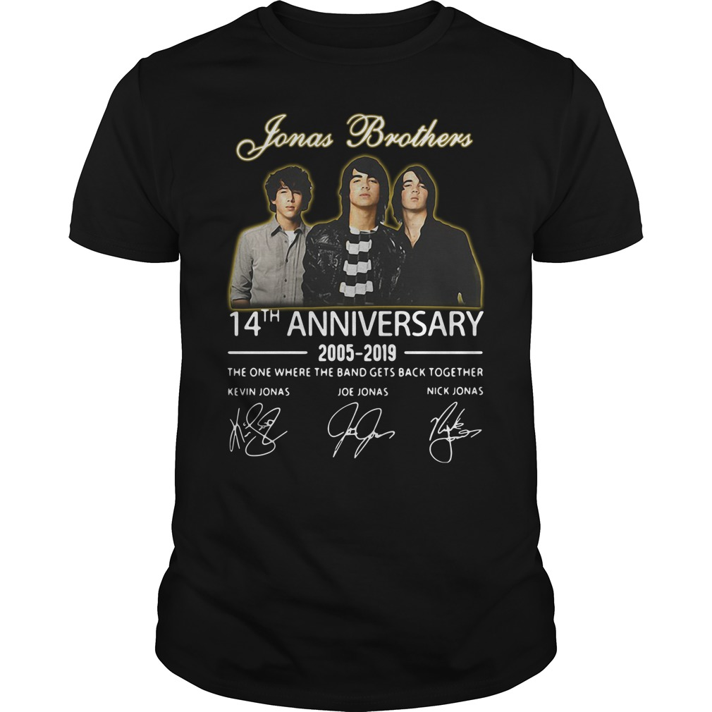 Jonas Brothers 14th Anniversary 2005-2019 Shirt