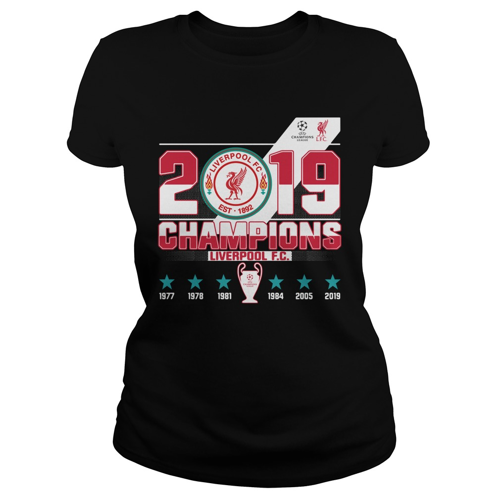 Liverpool Fc 2019 Champions Shirt ladies tee